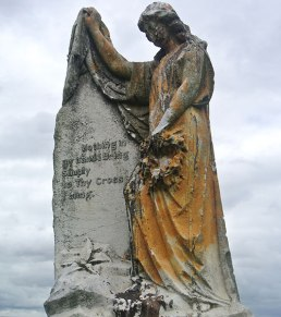 Weathered and stained. Southern Necropolis, Glasgow