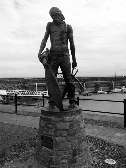 Statue of the ancient mariner at Watchet Harbour, Somerset
