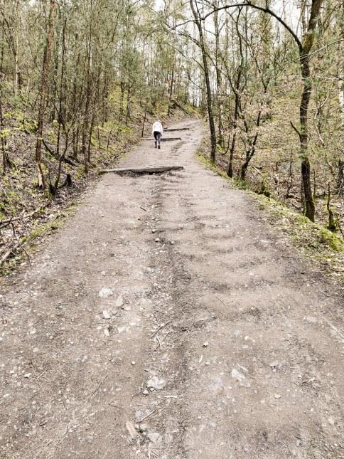 paarse wandelroute terhills
