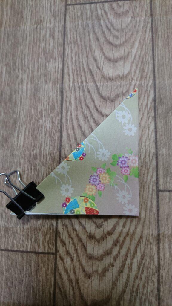 お月見の箱(三方)の折り紙の折り方2