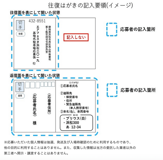 エアーフェスタ浜松2019基地外駐車場応募