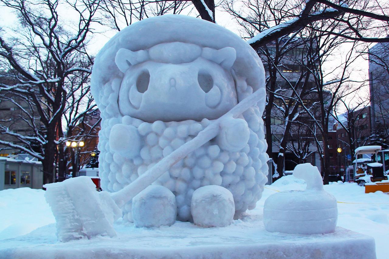 札幌雪まつり赤ちゃんベビーカー防寒