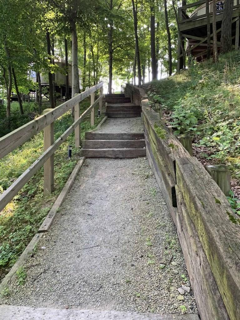 walkway up from yurt