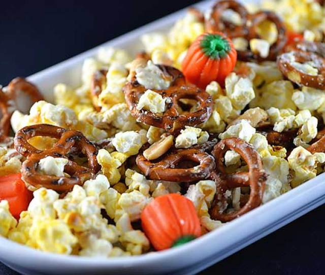 Halloween Snack Mix Recipe From Addapinch Com