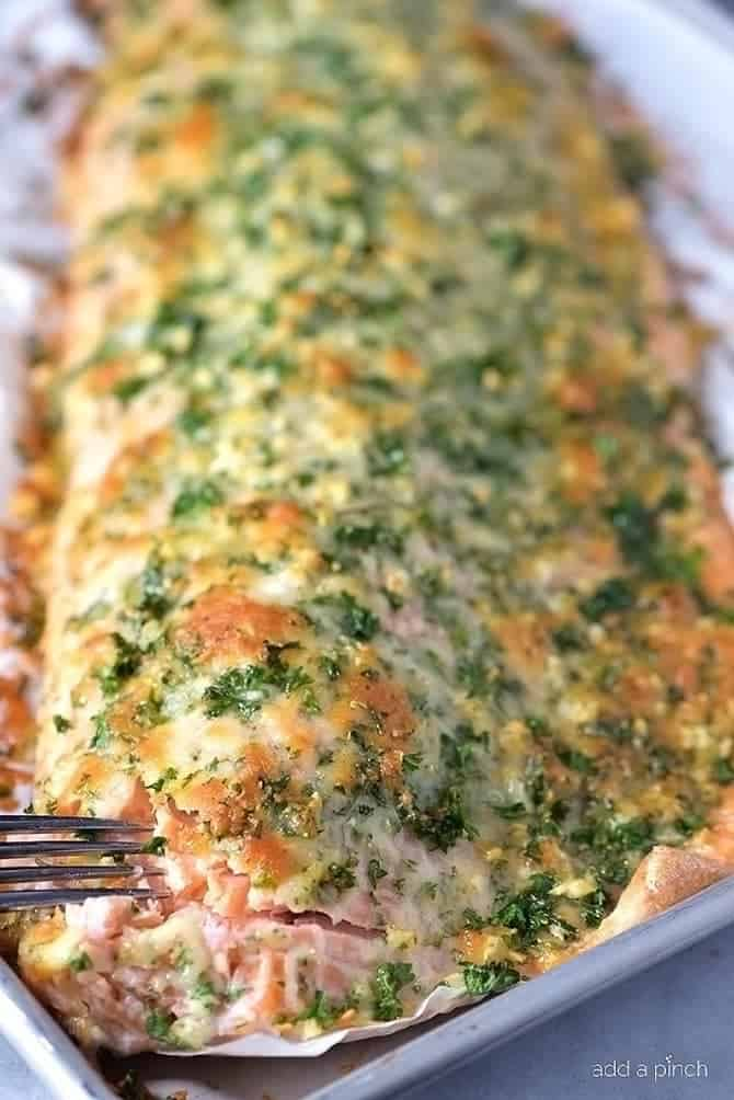 Baked Salmon with Parmesan Herb Crust Recipe  Add a Pinch