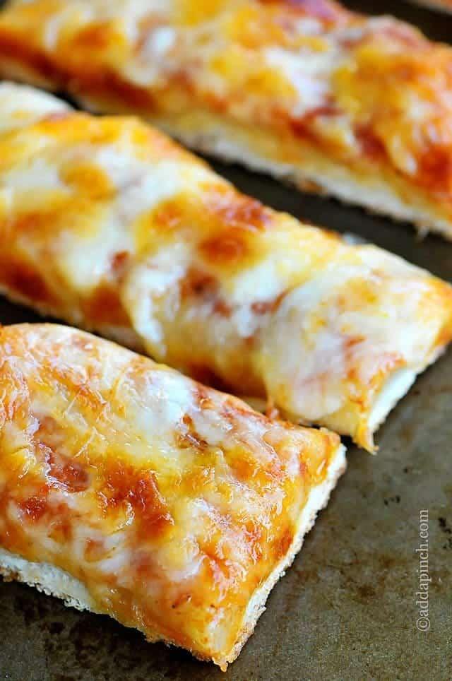 Cheesy Garlic Pizza Sticks Recipe  Add a Pinch