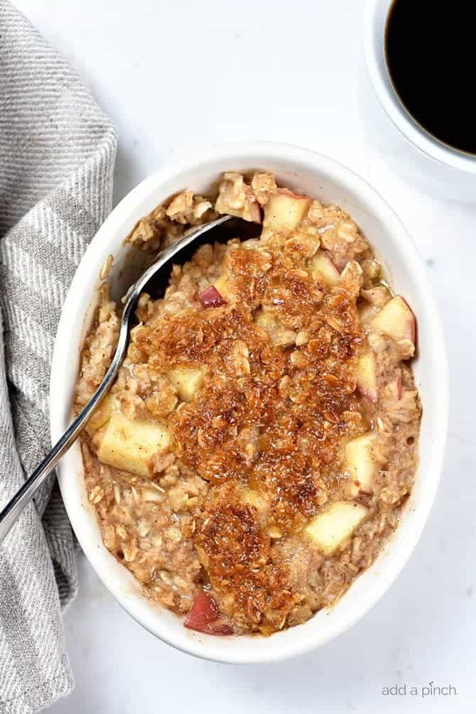 Cover and refrigerate to cold steep overnight**. Apple Crisp Oatmeal Recipe - Add a Pinch
