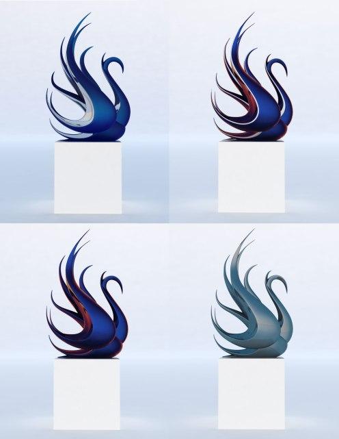contemporary-swan-sculpture-bronze-steel