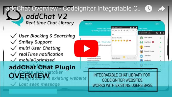 AddChat - Laravel + Codeigniter - Get New Version Free Demo - Download Now - 4