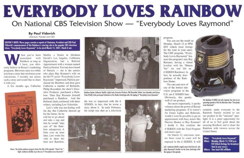 美國著名實況劇《Everybody loves Raymond》拍攝組使用 Rainbow