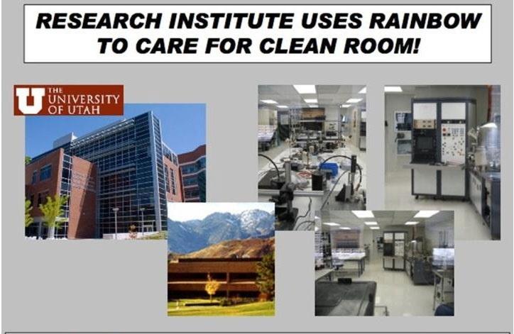 美國猶他州立大學研究中心無塵室使用 Rainbow