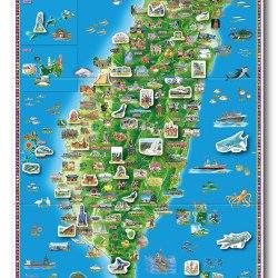 台灣印象地圖磁鐵書