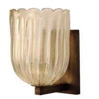 Modern Gold Dust Murano Glass Sconce Light