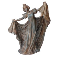 Antique Art Nouveau Cast Lady Lamp in the style of Gustav ...
