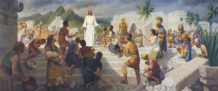 one by one Christ teaches Nephites