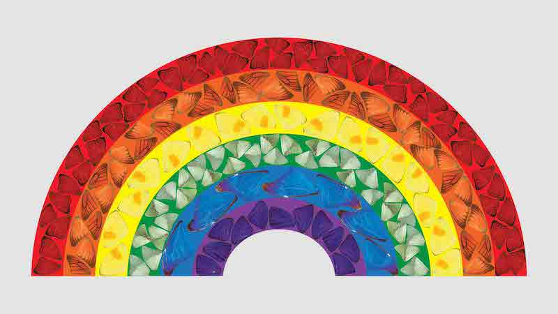 Damien Hirst Rainbow picture