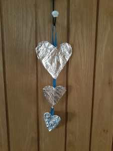 Cardboard & foil hearts
