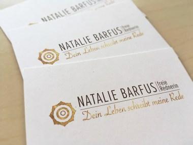 Natalie Barfus, Freie Rede, Logo, best logo of the world, inspiration business card, visitenkarten inspriationen