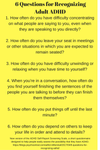 18-question adult adhd self-report scale