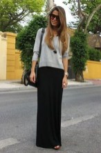 Cute Maxi Skirt Outfits To Impress Everybody23