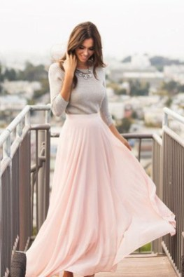 Cute Maxi Skirt Outfits To Impress Everybody24