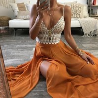 Cute Maxi Skirt Outfits To Impress Everybody30