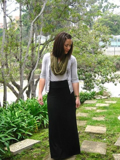 Cute Maxi Skirt Outfits To Impress Everybody42