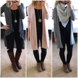 Cute Outfits Ideas With Leggings Suitable For Fall37