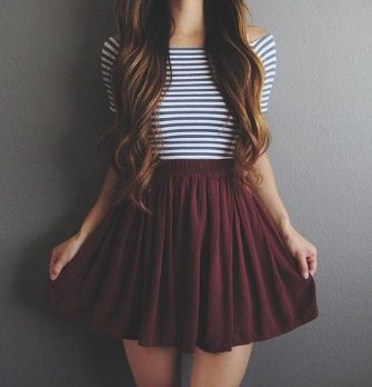 Easy And Cute Summer Outfits Ideas For School09