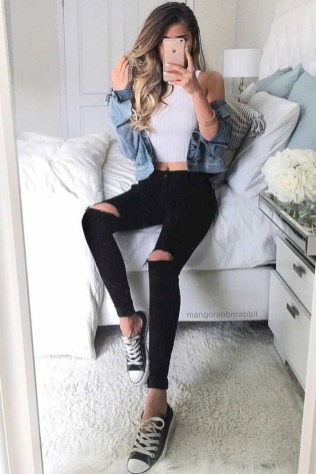 Easy And Cute Summer Outfits Ideas For School18