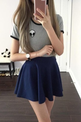 Easy And Cute Summer Outfits Ideas For School44