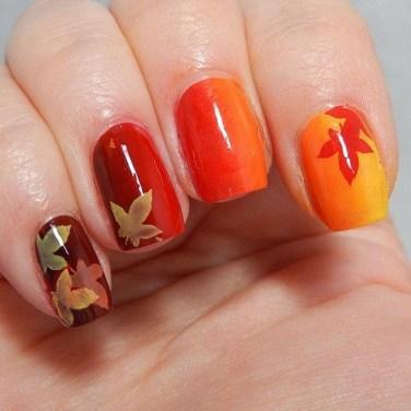 Eye Catching Fall Nails Art Design Inspirations Ideas02