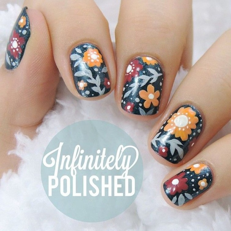 Eye Catching Fall Nails Art Design Inspirations Ideas36