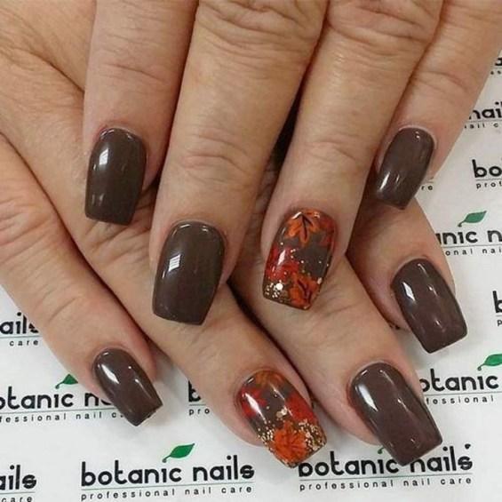 Eye Catching Fall Nails Art Design Inspirations Ideas45
