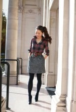 Modest But Classy Skirt Outfits Ideas Suitable For Fall03