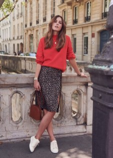 Modest But Classy Skirt Outfits Ideas Suitable For Fall05