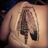 Awesome Feather Tattoo Ideas28