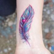 Awesome Feather Tattoo Ideas30