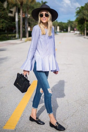 Magnificient Summer Outfit Ideas With Black Flats38