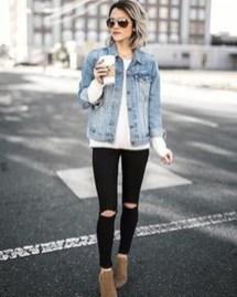 Delightful Winter Outfits Ideas Denim Jacket03
