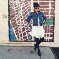 Delightful Winter Outfits Ideas Denim Jacket11