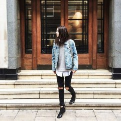 Delightful Winter Outfits Ideas Denim Jacket22