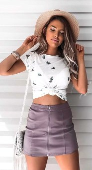 Fabulous Purple Outfit Ideas For Summer02