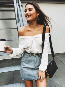 Fancy Winter Outfits Ideas Jean Skirts06