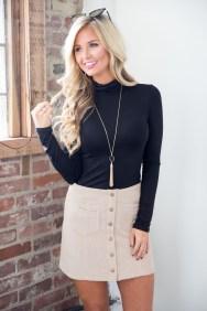 Fancy Winter Outfits Ideas Jean Skirts12