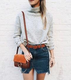 Fancy Winter Outfits Ideas Jean Skirts19