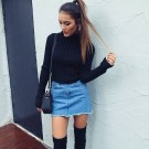 Fancy Winter Outfits Ideas Jean Skirts21