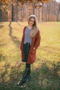Fancy Winter Outfits Ideas Jean Skirts32