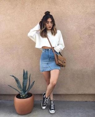 Fancy Winter Outfits Ideas Jean Skirts35