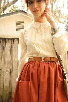 Incredible Skirt And Blouse This Fall Ideas32